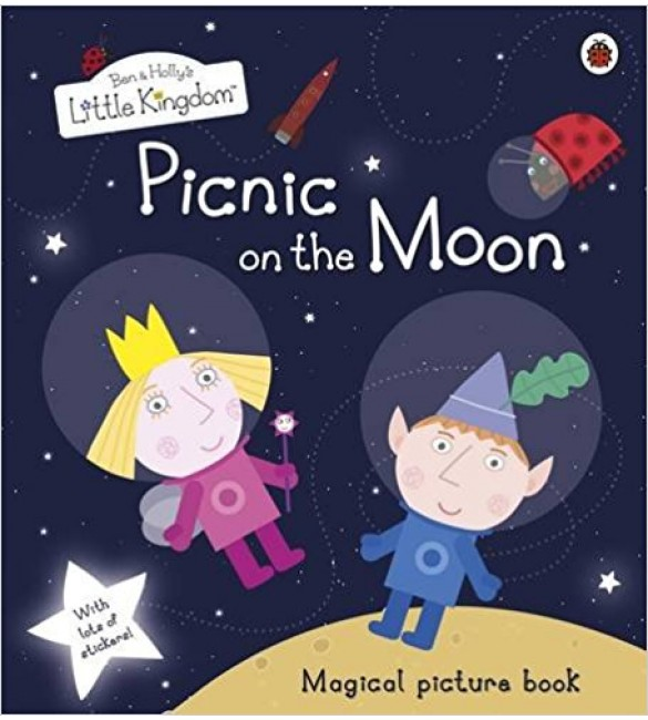 Picnic on the Moon Picture Book with Stickers