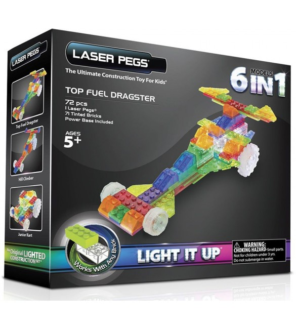 Laser Pegs Zippy Do Dragster 6-in-1 Blocks