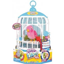 Little Live Pets Pink Bird With Cage Pretty Polly