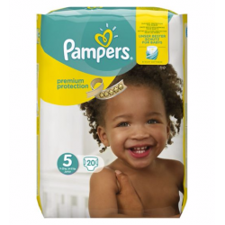 Pampers Premium Protection Size 5 11-23 Kg Pack 20 (Made In Germany)