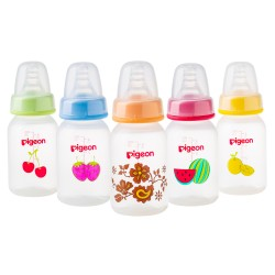 Pigeon Decorated Bottle - (Slim Neck) 120 ml Fruits 1PC