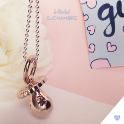 Le Bebe Rose Gold Pacifier Plated Necklace