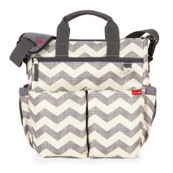 Skip Hop Duo Signature Carry All Travel Diaper Bag Tote with Multipockets, One Size, Chevron
