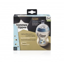 Tommee Tippee Closer To Nature Plastic Feeding Bottle x2 - Blue