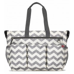 Skip Hop Twins Signature Baby Changing Nappy Bag - Double Duo Chevron