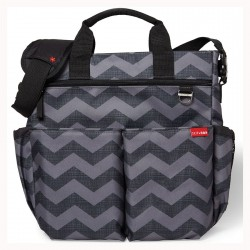 Skip Hop - Duo Signature Bag - Tonal Chevron