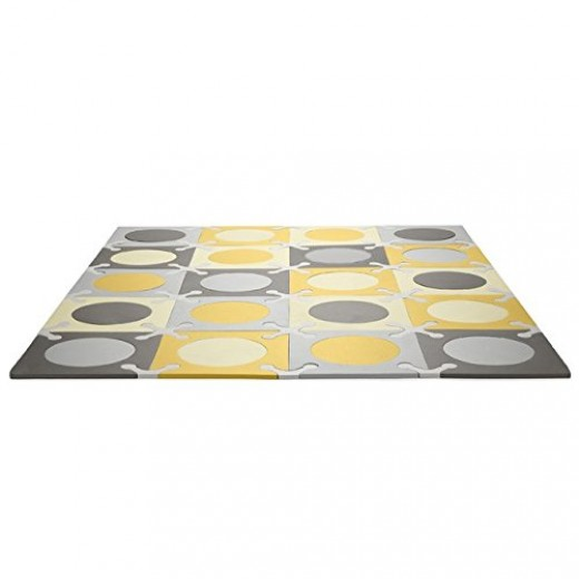 Skip Hop Interlocking Foam Floor Tiles Playspot, Gold/Grey