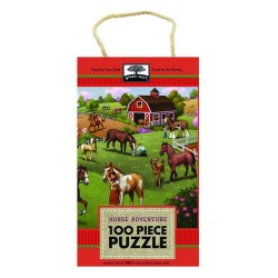 Innovative Kids Green Start 100-Piece Puzzle: Horse Adventure Puzzle