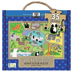 At the Zoo (Green Start Giant Floor Puzzles)