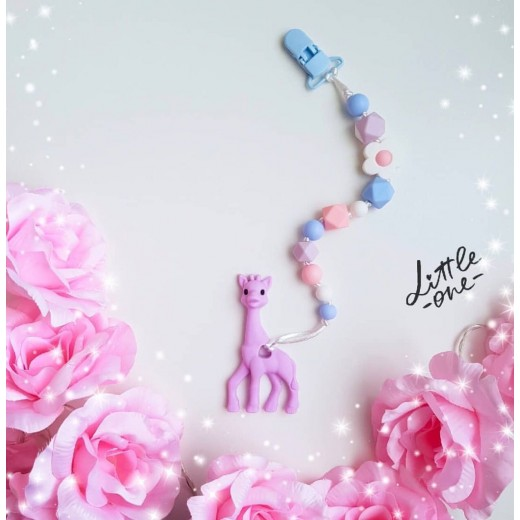 Baby Holder - Teething Holder (Purple Giraffe)