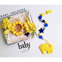 Baby Holder - Teething Holder (Yellow Elephant)
