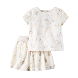 Carter's 2-Piece Floral Lace Top & Short Set (5-8 years old)
