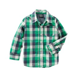 Oshkosh Plaid Button-Front Shirt (5-14 years)