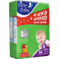 Fine Baby Super Dry - Smart Lock, Junior 22+ Kgs, Jumbo Pack