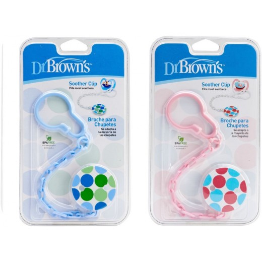 Dr. Brown's Pacifier Teether/Clip - All Plastic