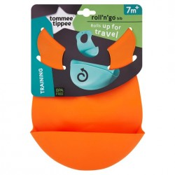 Tommee Tippee Explora Roll 'n' Go Bib - (Orange)
