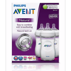 Avent - Natural Feeding Bottles 260ml Triple Pack