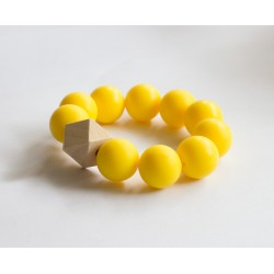 Baby Holders - Teething Bracelets with Yellow Beads