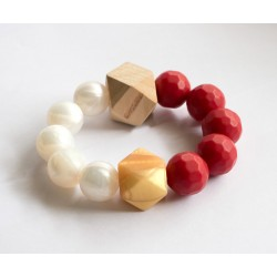 Baby Holder - Teething Bracelet with Mixed Beads