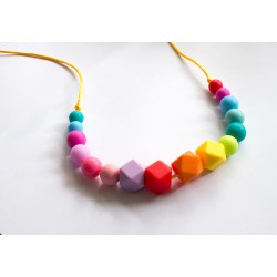 Baby Holder - Rainbow Teething Necklace