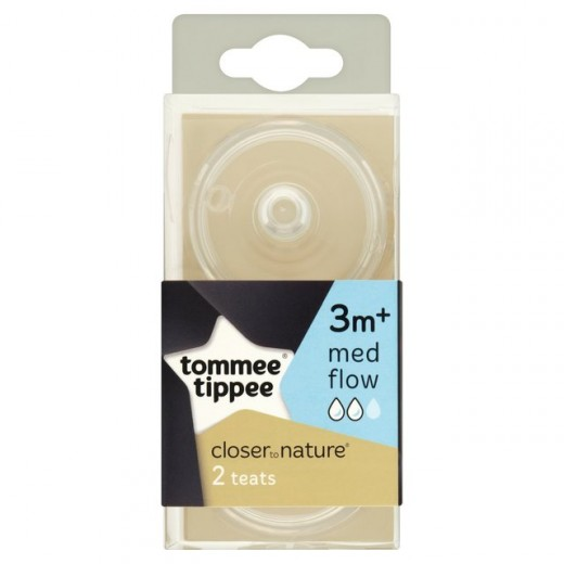 Tommee Tippee Closer to Nature Medium Flow Teats (2-Pack)