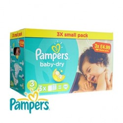 Pampers Baby-Dry Size 3, 4-9 Kg, 66 Count