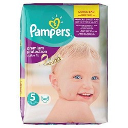 Pampers Premium Protection Size 5, 11-23 KG, 48 Count (Made In Britain)