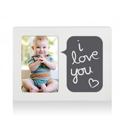Pearhead Chalkboard Talk Bubble Frame, Baby Talk