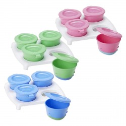 Tommee Tippee Explora 4 Pop Up Freezer Pots 6m+ (available in 3 colors)