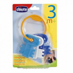 Chicco Teething Key Ring - Blue