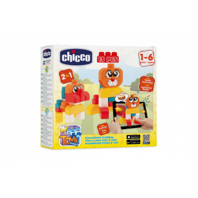 7dec1508bd86 Chicco Toy Building Blocks Cat/ Dog Set 15pc | Chicco | Toys,Books ...