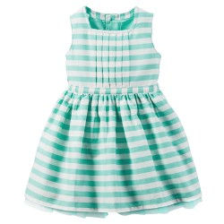 Carter's Striped Poplin Dress - 3 months