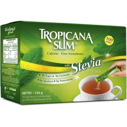 Tropicana Slim Zero Calories Stevia Sweetener 100pc