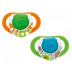 Chicco Physio Compact Night  Green-Orange 12+m 2pcs
