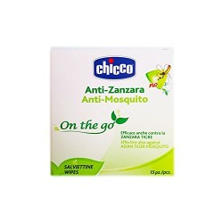 Chicco Anti Mosquito Disposable wipes 15 pieces