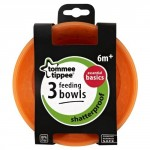 Tommee Tippee Basics Bowls X3, Orange
