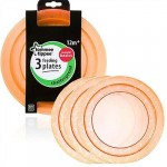 Tommee Tippee Feeding Plates Pack of 3 (Available in 3 Colors)