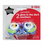 Tommee Tippee Glow Dark X2 (6-12 Months), Different Colors