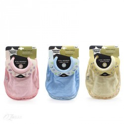 Tommee Tippee Closer to Nature Milk Feeding Bibs, 2 pieces, 3 Different Colors