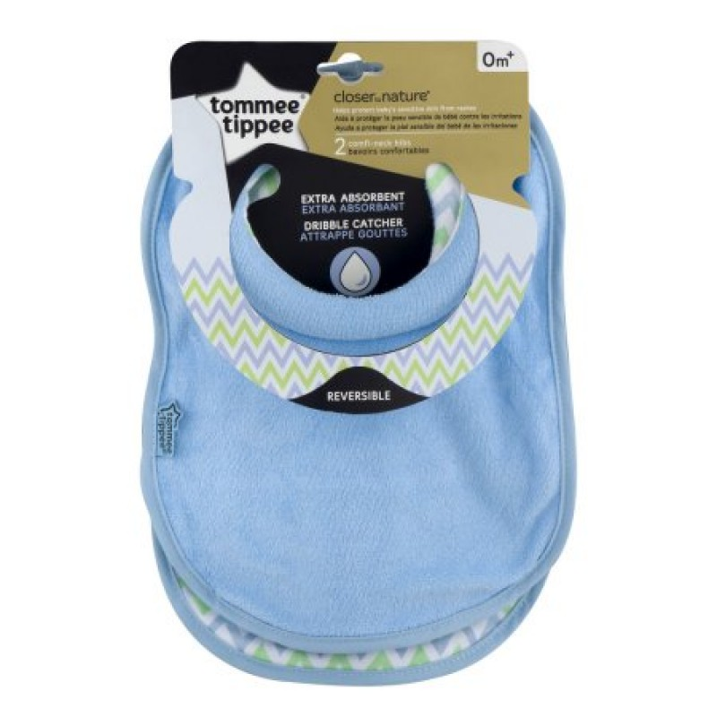 Tommee Tippee Explora Dribble Bibs Pink in colour 2 bibs soft and absorbant 4m+