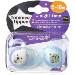 Tommee Tippee Soother Night Time (6-18 Months)
