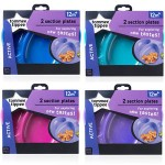 Tommee Tippee Section Plates x 2 - (Available in 4 Colors)