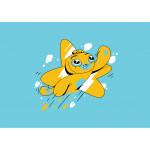 Adam Wa Mishmish T-Shirt for Children - Blue