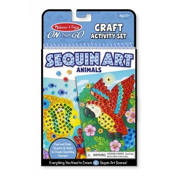 Melissa & Dough On-The-Go Crafts Animals Sequin Art