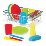 Melissa & Doug Let's Play House! Wash & Dry Dish Set