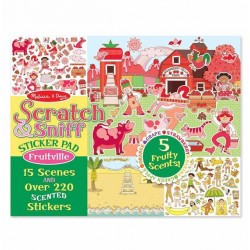 Melissa & Doug Scratch & Sniff Sticker Pad - Fruitville
