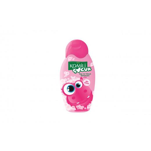 Komili Baby hair and Body Shampoo Strawberry 350ml (Made in Turkey).