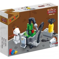 Banbao Construction Kit Snoopy Workshop 55-Piece