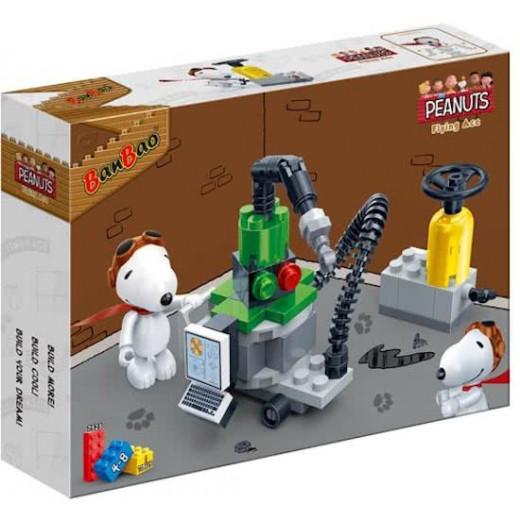 Banbao Construction Kit Snoopy Workshop 55-Piece