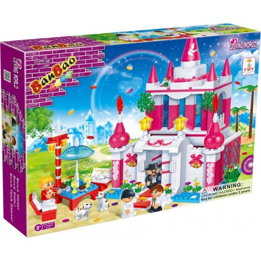 Banbao Wedding Chapel Toy Building Set, 552-Piece